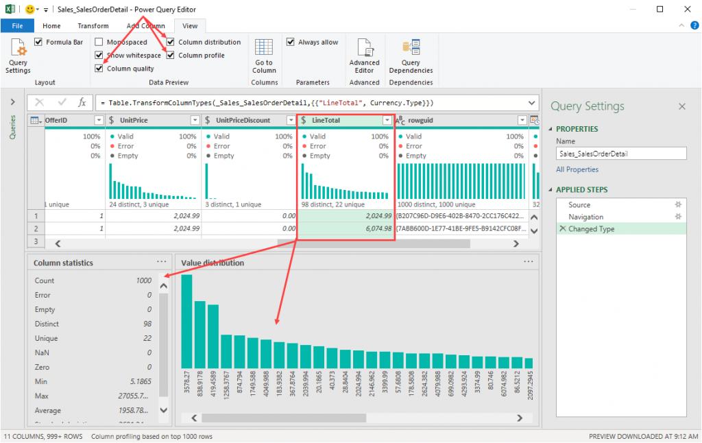 Analyze Data Quality with Power Query