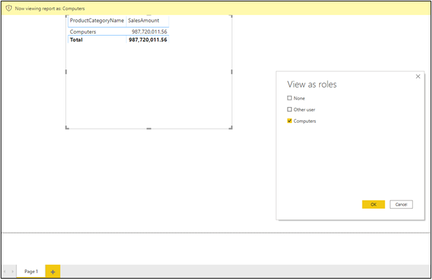 Validating a Role in Power BI