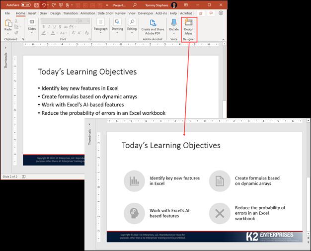 Using Design Ideas In PowerPoint